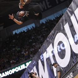 16 year old Pedro Barras of Brazil in the skateboard vert final at Energy Solutions Arena for the Salt Lake City stop of the Dew Tour on Saturday, Sept. 10, 2011.