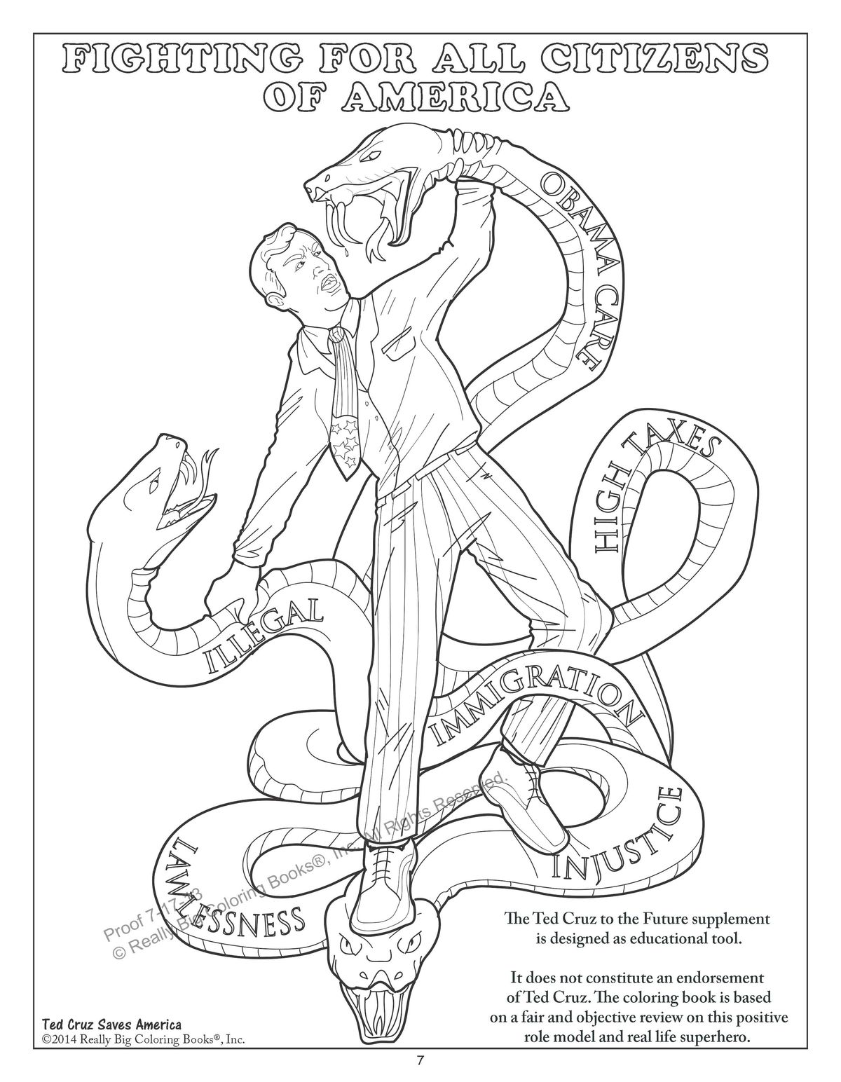 This Coloring Book Features Ted Cruz Fighting A Giant Snake Named Obamacare Vox