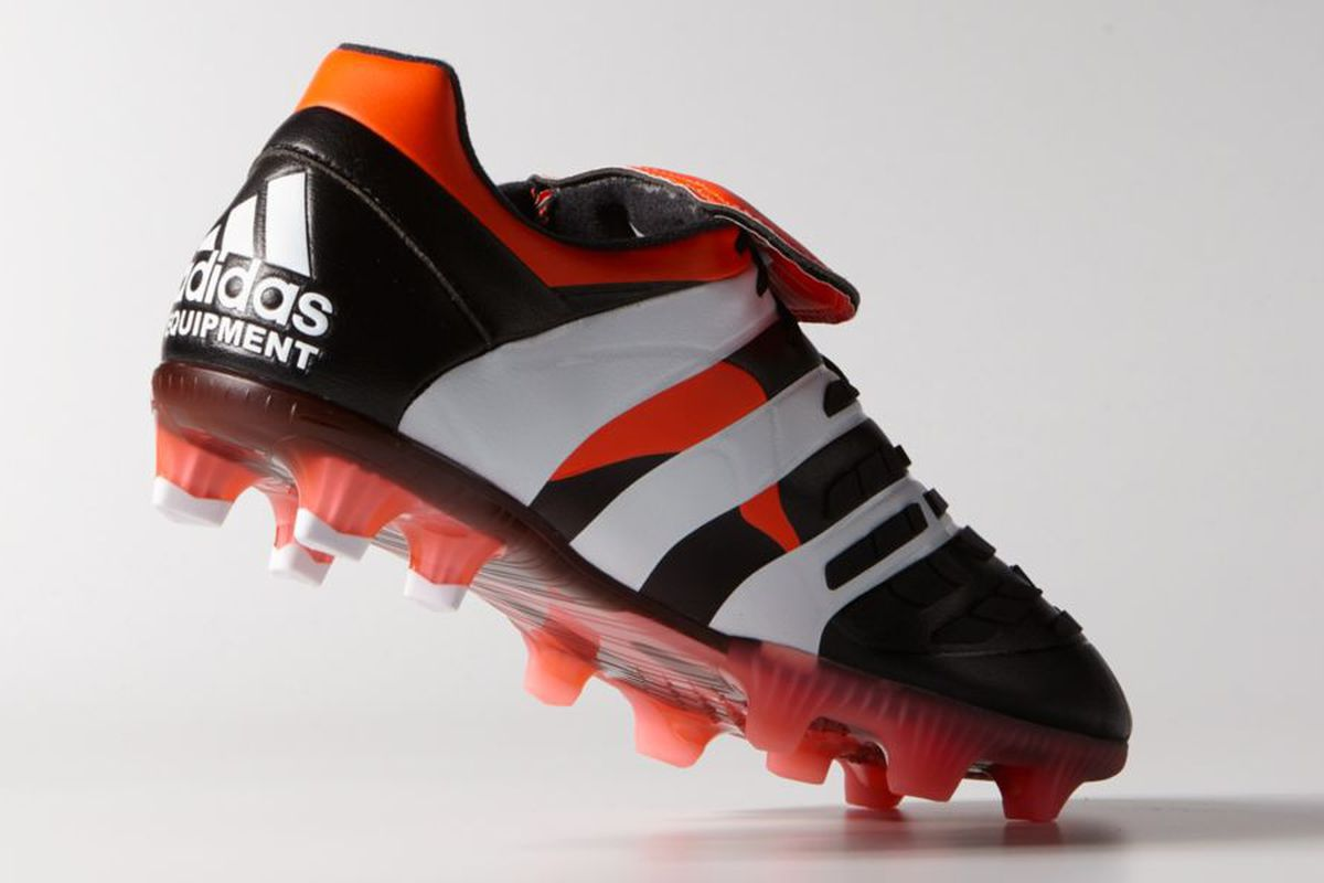 70794d36bb0c The new boot, modeled after 1998's Predator Accelerator, is sure to see  fans recall some of their favorite football memories. The original  Accelerator took ...