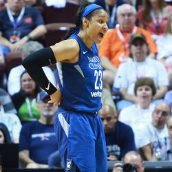 The Minnesota Lynx take on the Connecticut Sun in a WNBA game at Mohegan Sun Arena in Uncasville, CT on August 17, 2018.