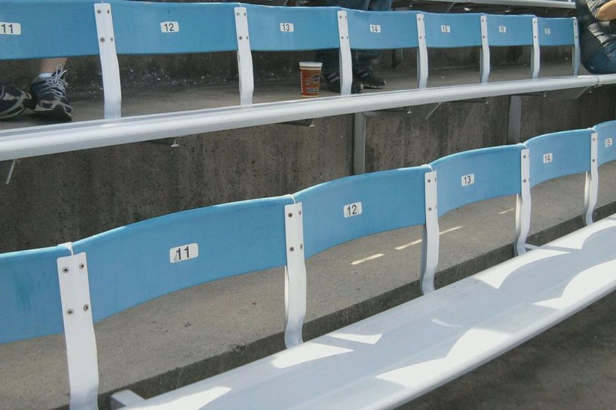 Empty seats in the upper deck of Ralph Wilson Stadium, circa 2010. Photo by MattRichWarren, BuffaloRumblings.com.