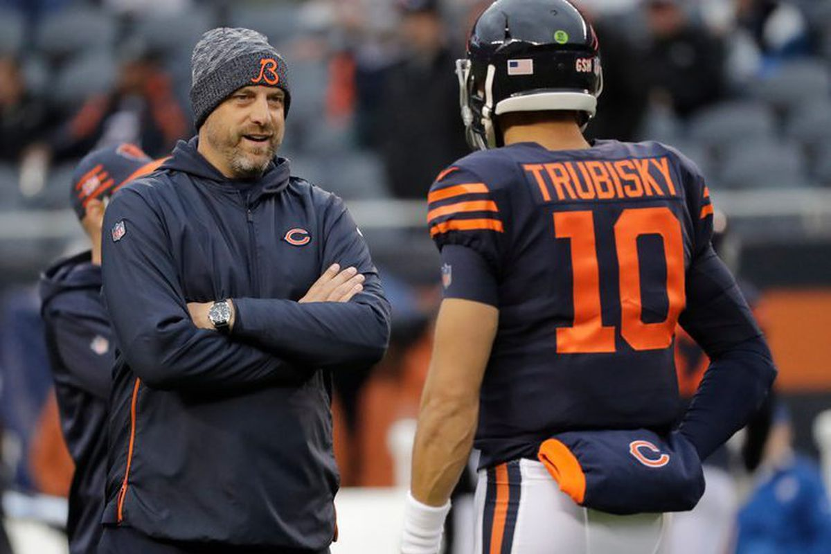 super popular 9a56c 8533c Matt Nagy Mic'd Up video: What it means for Bears, QB Mitch ...