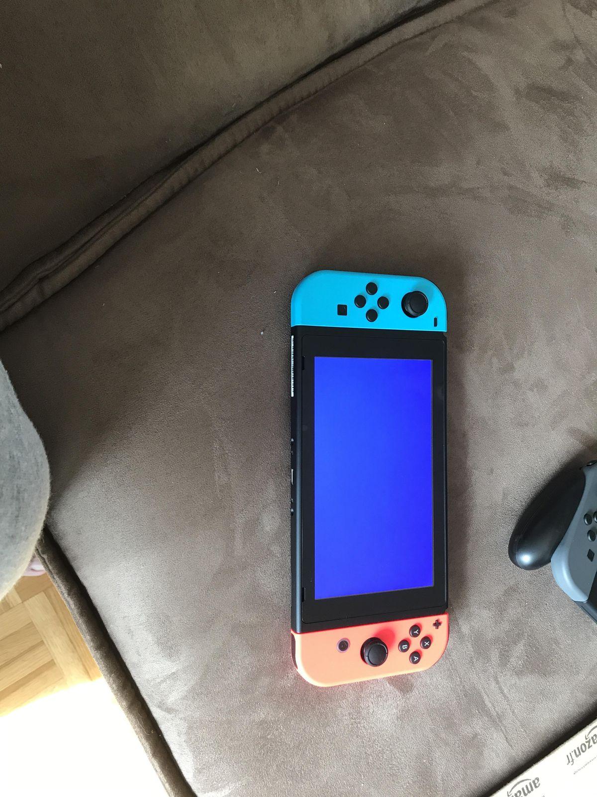 Nintendo Switch blue screen