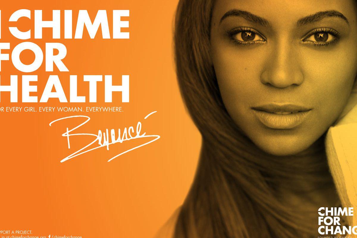 "Image via <a href=""http://www.beyonce.com/news/chime-for-change"">Beyonce.com</a>"
