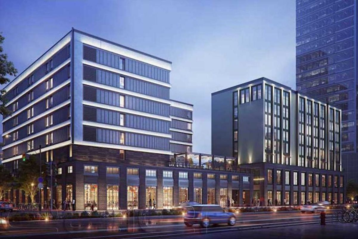 a rendering of the proposed hotel