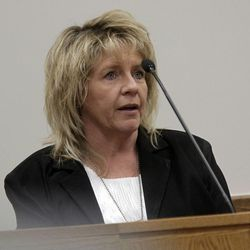 Tami Black, with Utah Adult Probation and Parole, testifies during Martin MacNeill's murder trial in 4th District Court in Provo Thursday Nov. 7, 2013.