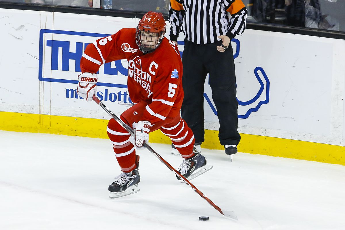 Matt Grzelcyk and the Terriers swept Merrimack and advanced to the Hockey East semifinals.