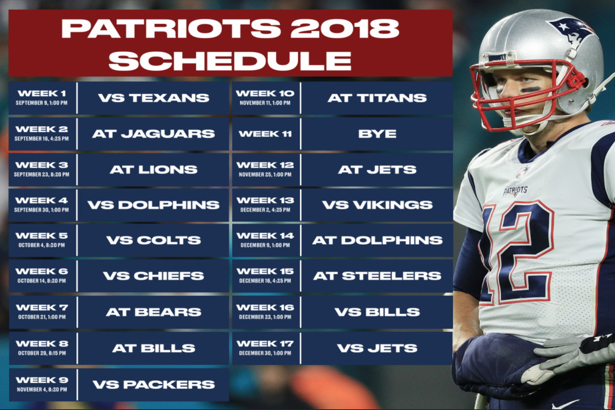 Patriots 2018 schedule: Instant analysis, game times ...