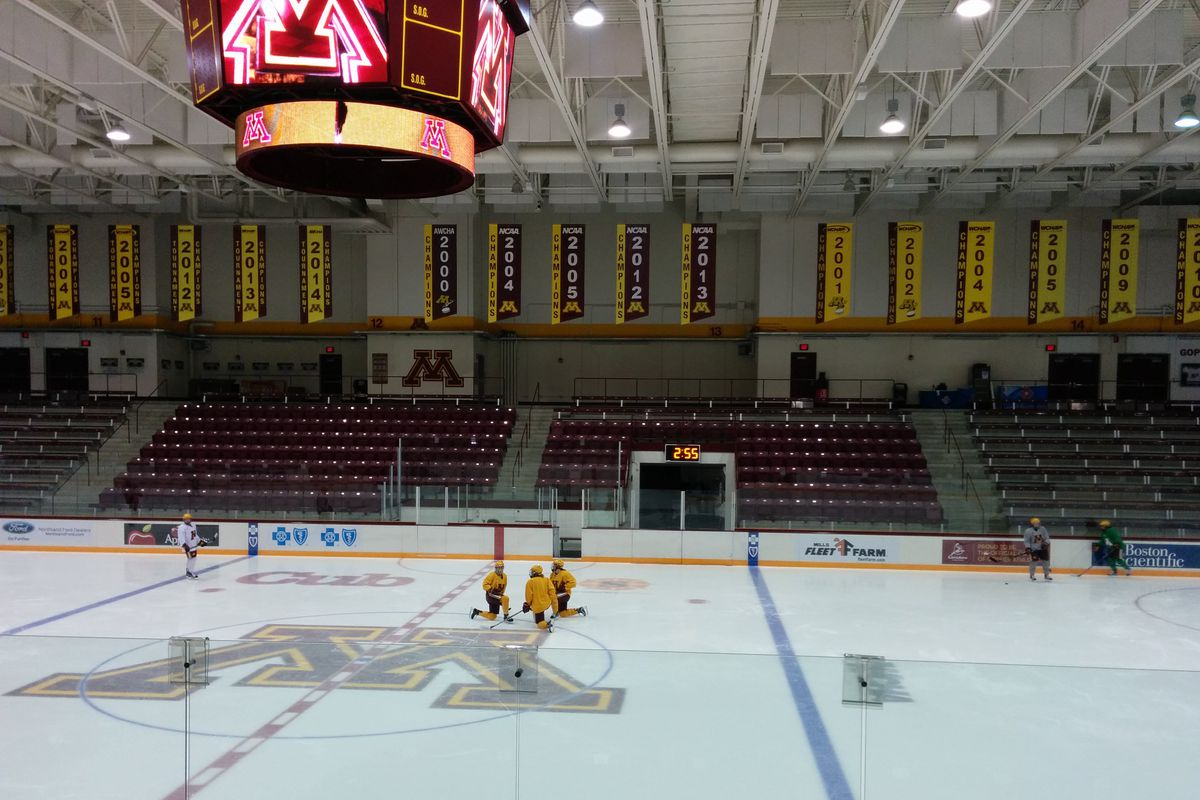 The 2013 national champion banner at Ridder soon gets a friend to its right.