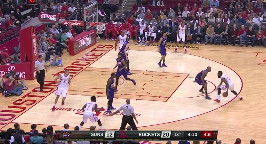 Harden with a quick dribble back to the left
