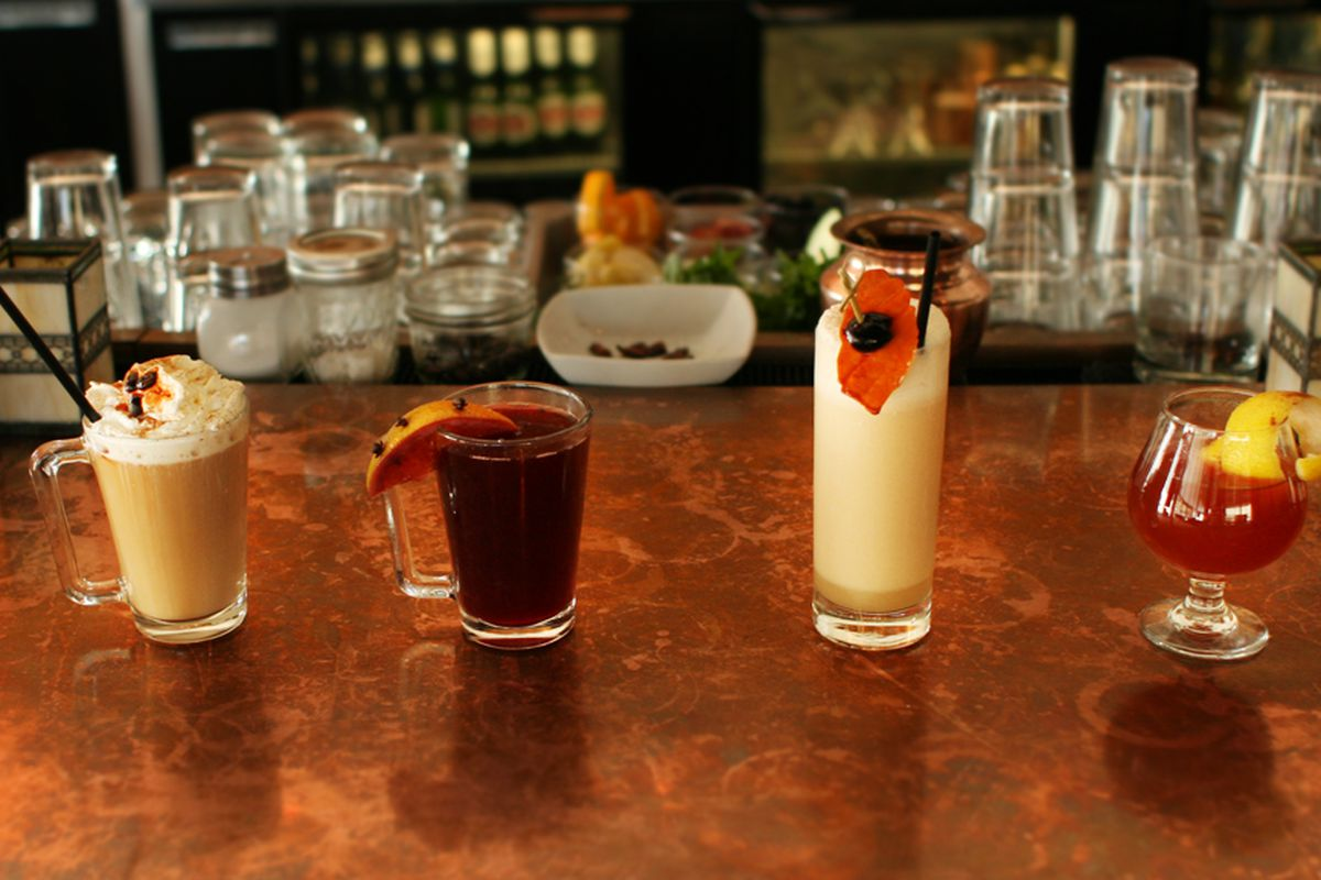 The winter drink lineup at The People's Last Stand.