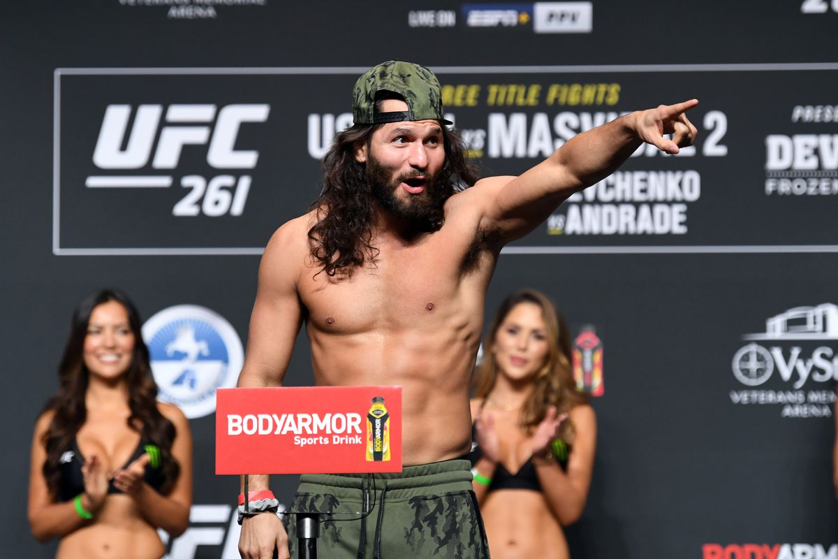 Jorge Masvidal weighs in for UFC 261.