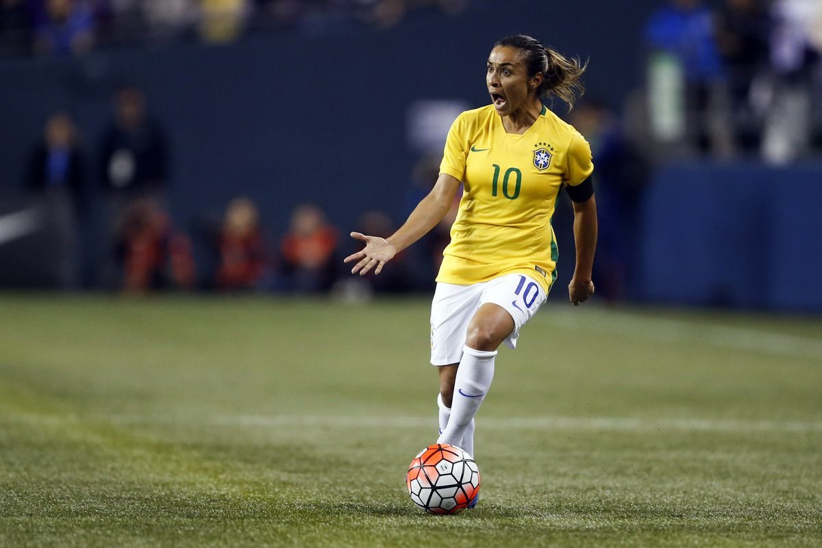 Soccer: Post WWC Tour-Brazil at USA