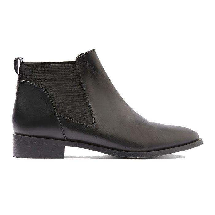 topshop king chelsea boot in black