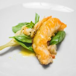 """Lobster with Artichoke at Del Posto by <a href=""""https://www.flickr.com/photos/soundofdesign/12801776815/in/pool-eater/"""">soundofdesign"""