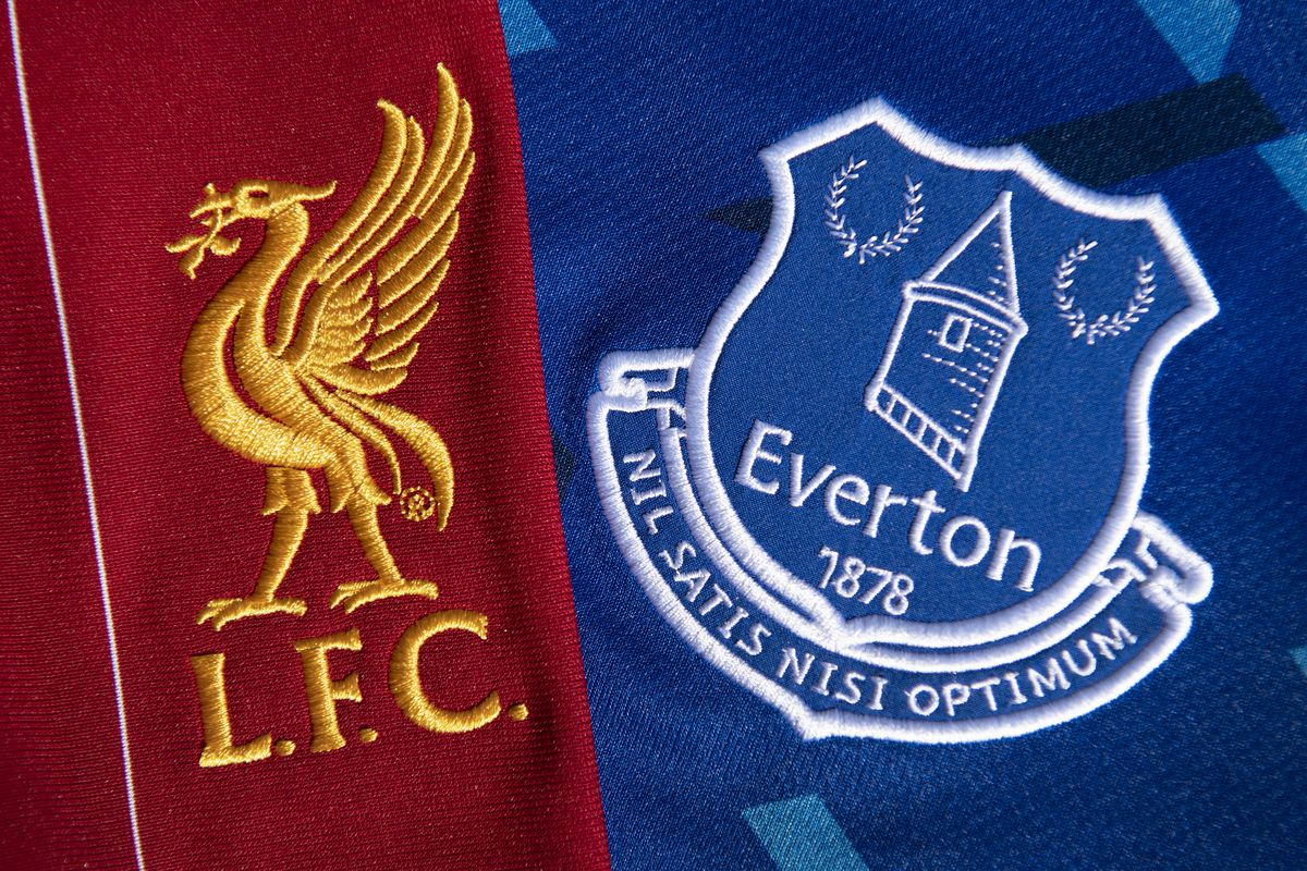 The Liverpool and Everton Club Badges