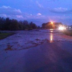 Flash flooding in Saratoga Springs neighborhood.