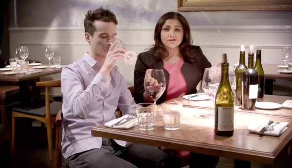 """Carl Stankowski (John Hartman) and Alpana Singh (The Boarding House, Seven Lions) in a scene from """"The Chef Whisperer."""""""