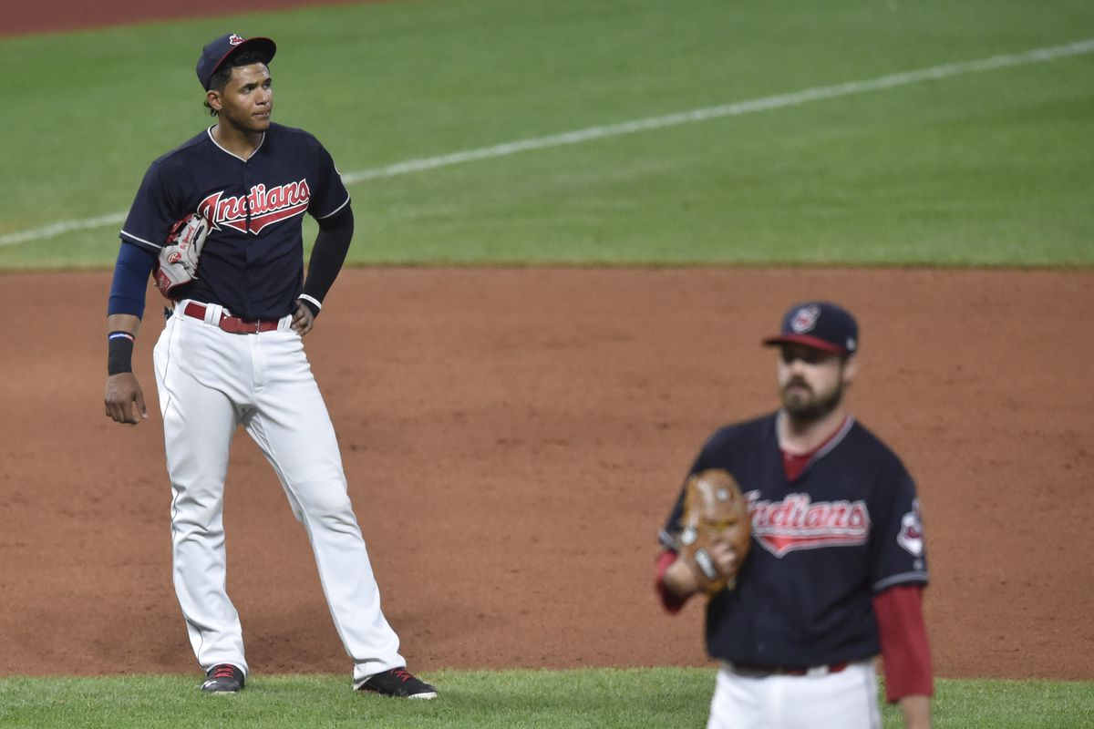 MLB: Los Angeles Dodgers at Cleveland Indians