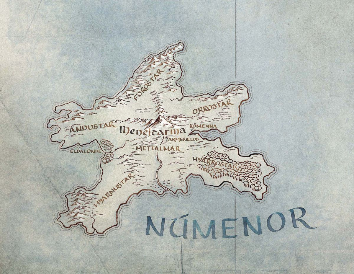 Amazon Lord of the Rings TV show - the newly revealed island of Númenor