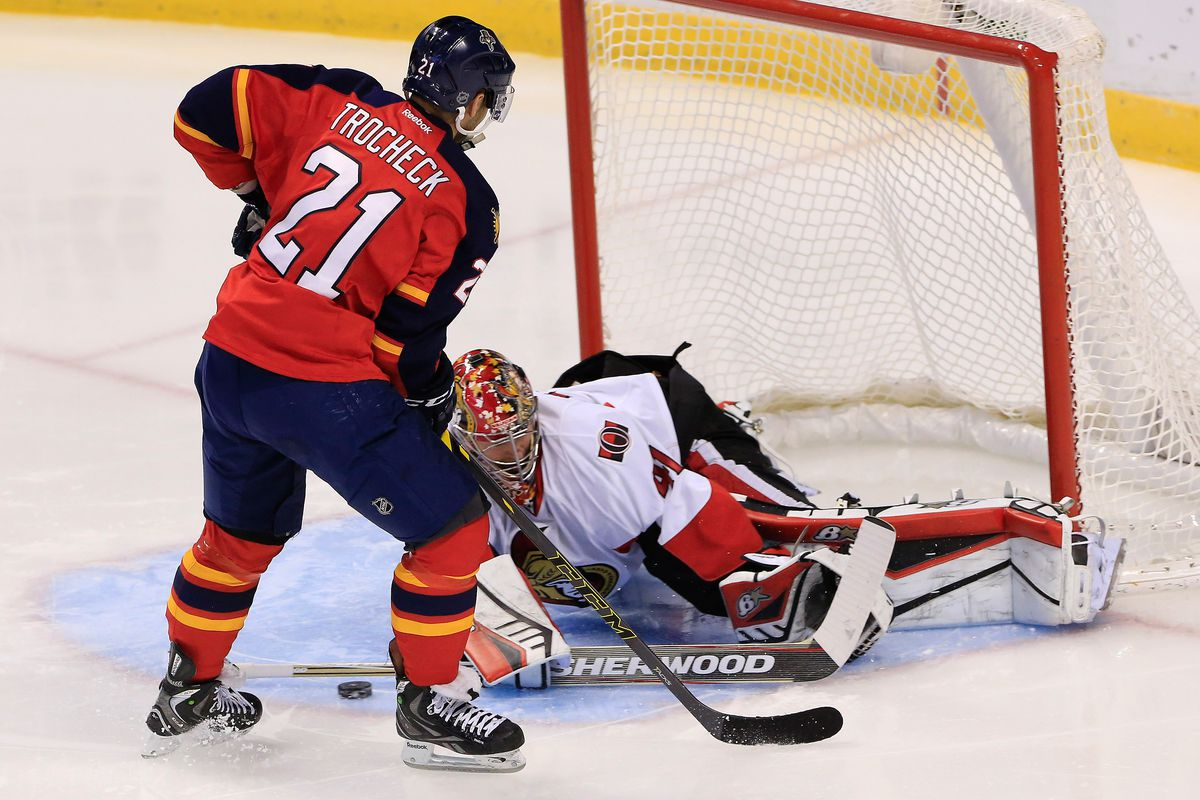 Vincent Trocheck was a force for the Panthers.