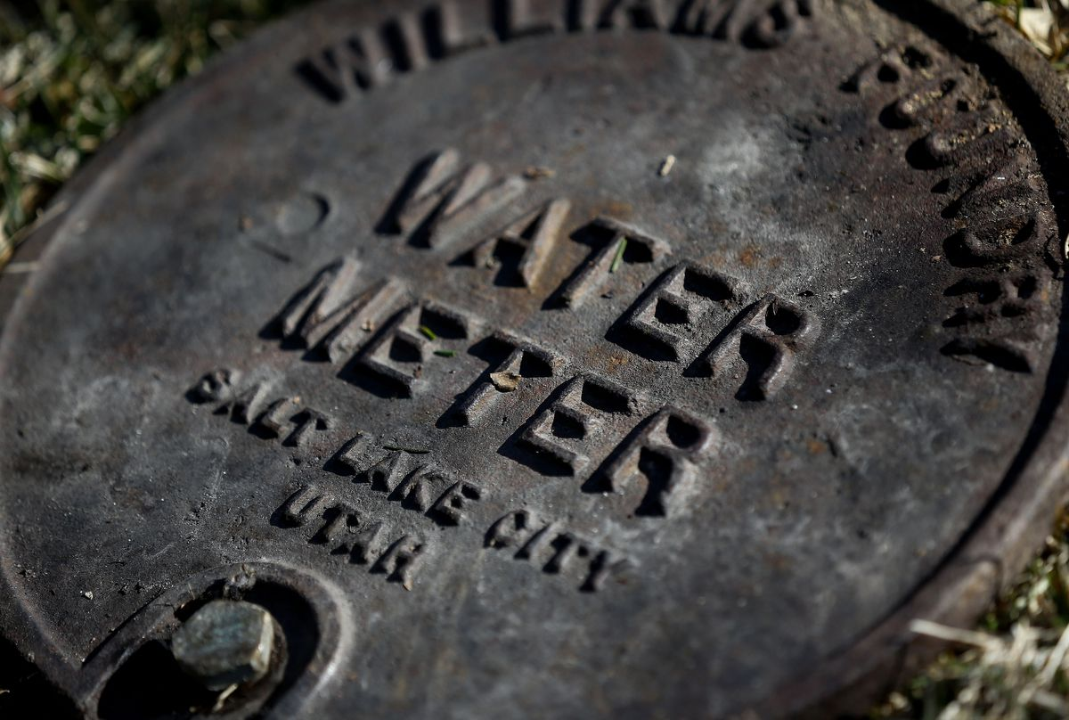 A water meter cover is pictured in Salt Lake City on Wednesday, Feb. 19, 2020. The Utah Division of Drinking Water is requesting additional money to step up compliance of public drinking water systems.