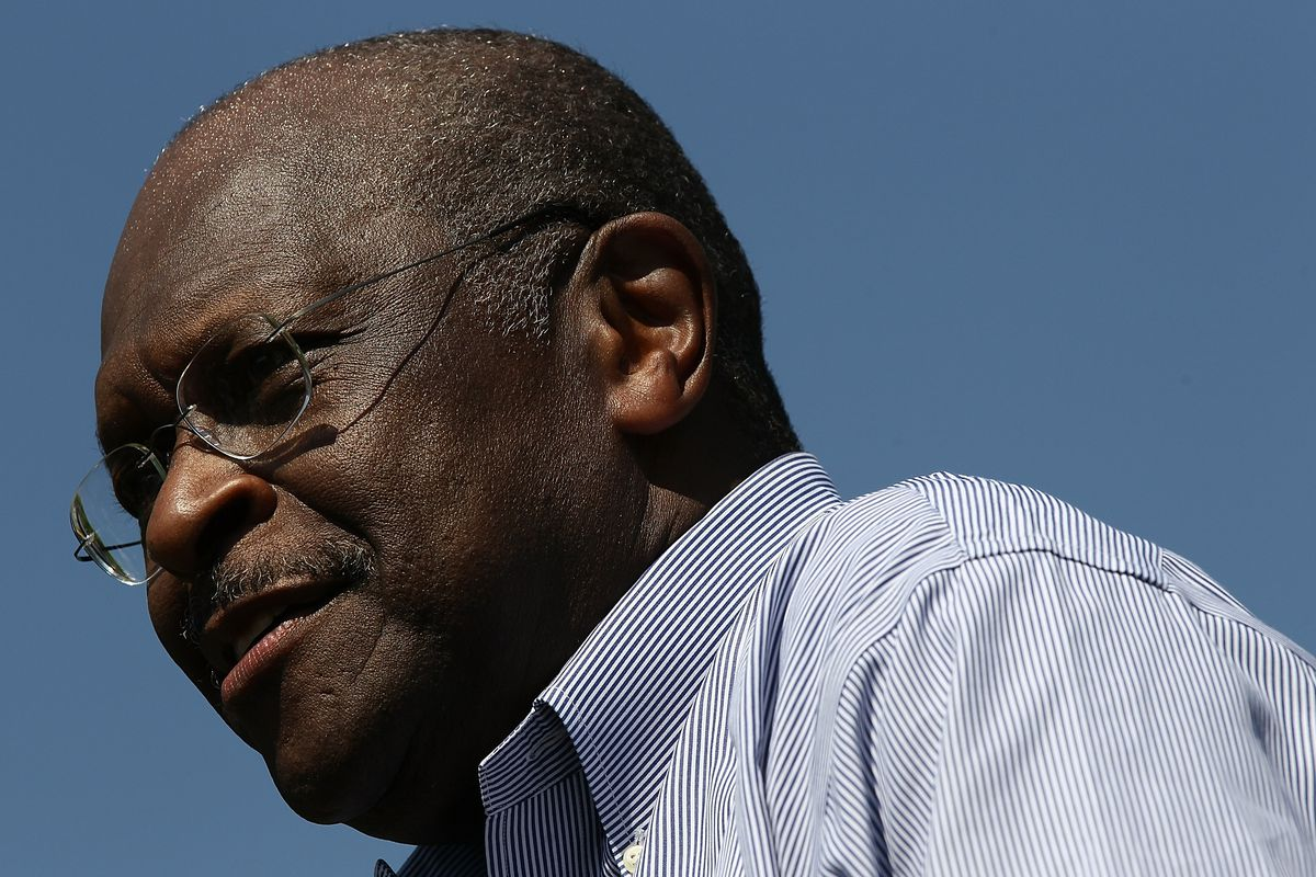 Herman Cain Leads Tax Day Rally At U.S. Capitol