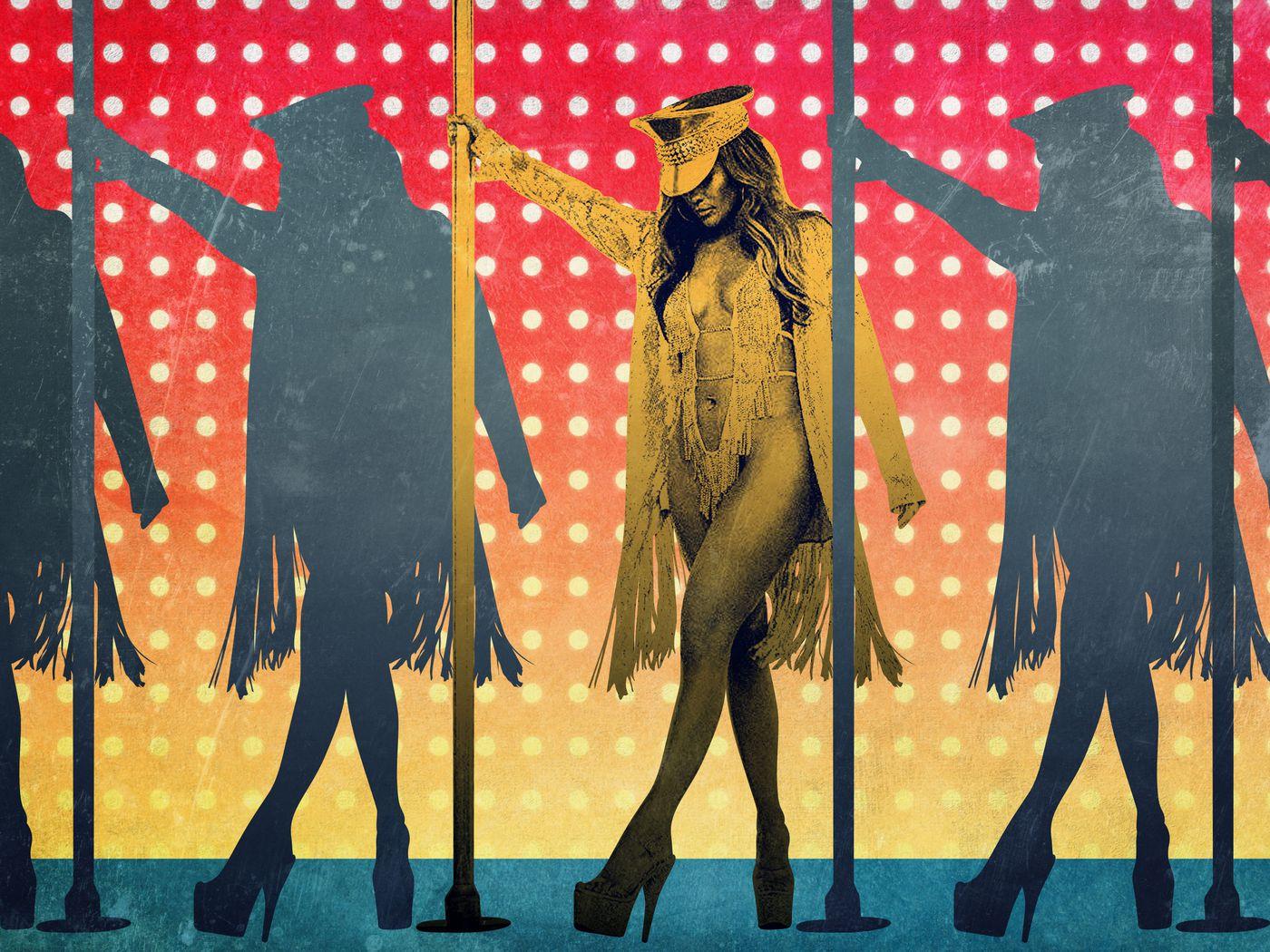 backstage im strip stripper club