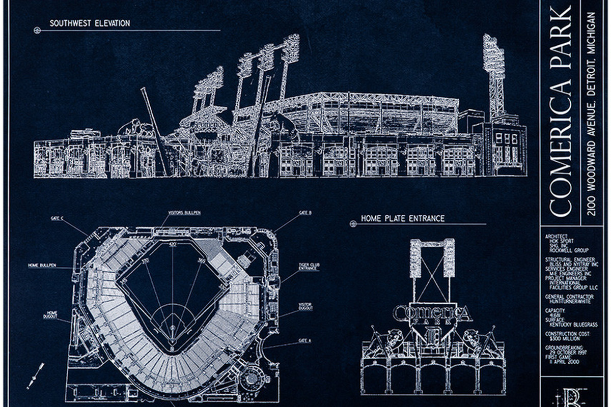 Announcing the byb comerica park blueprint art giveaway contest we dont often get a chance to give away free stuff at bless you boys so this is a rare treat thanks to cameron aka bybs resident teenage transaction malvernweather Gallery