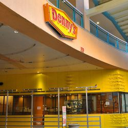 The entrance inside Neonopolis.