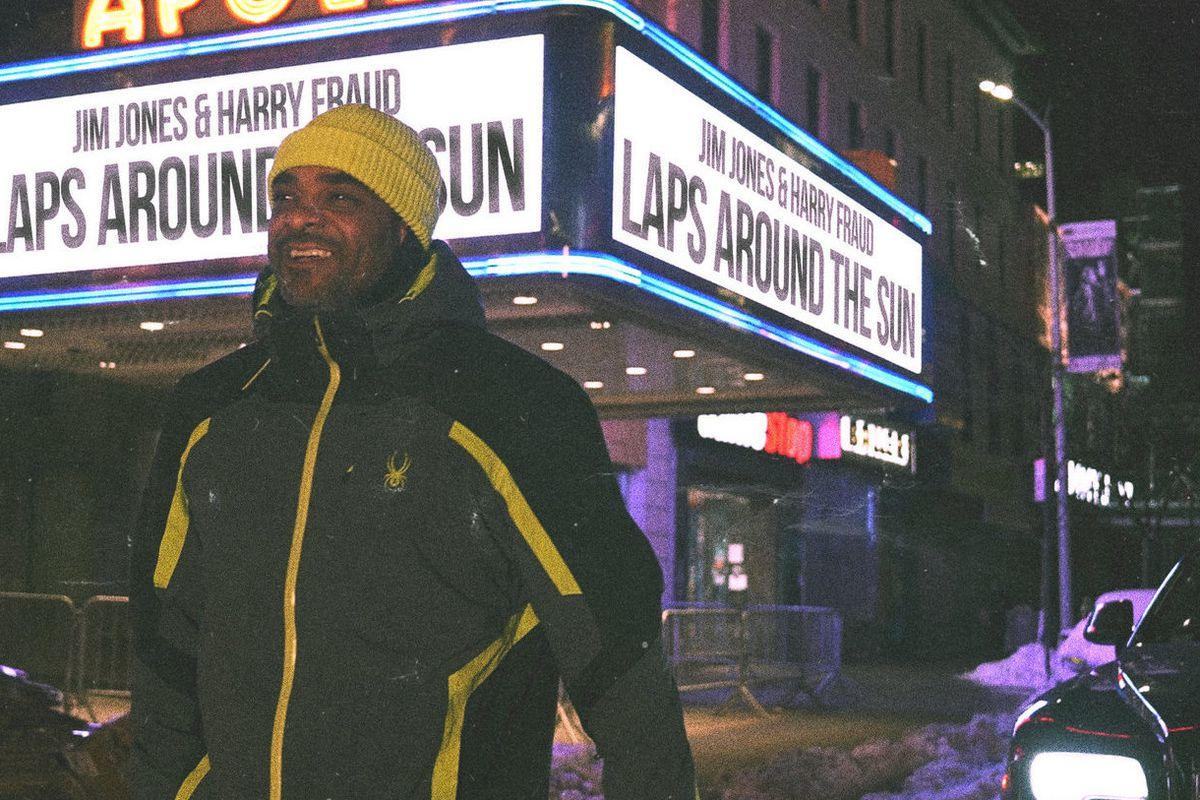 "Jim Jones and Harry Fraud's ""Laps Around The Sun"" artwork"