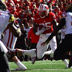 Melvin Gordon searches for a hole in the Maryland defense