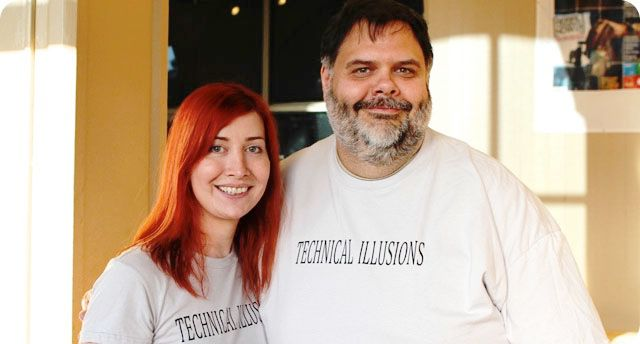CastAR founders Jeri Ellsworth and Rick Johnson