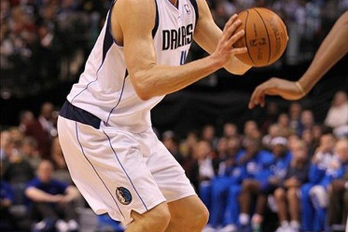 Mar 3, 2012; Dallas, TX, USA; Dallas Mavericks forward Dirk Nowitzki (41) shoots against the Utah Jazz at American Airlines Center.  Mandatory Credit: Matthew Emmons-US PRESSWIRE