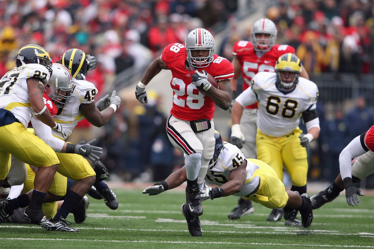 24b2dcbc881 Former Ohio State RB and Michigan destroyer Beanie Wells talks about ...