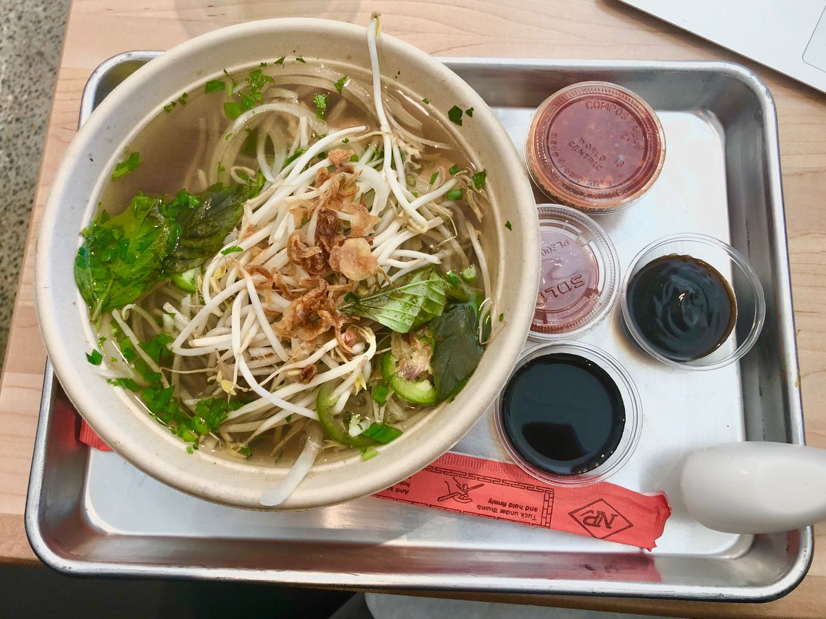 chicken pho from Vui's Kitchen at Hunters Station