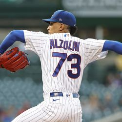 Adbert Alzolay, Cubs starting pitcher on Friday