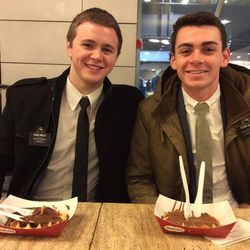 Elder Mason Wells, left, and Elder Joseph Dresden Empey, had been serving together as companions for five weeks in Brussels, a part of the LDS Church's France Paris Mission, before they were injured in a terrorist attack at the Brussels airport on Tuesday, March 22, 2016.