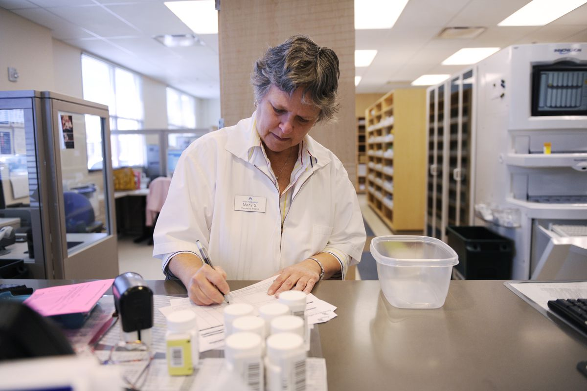 This pharmacist likely has a closer wage to her men counterparts than lots of other women workers.