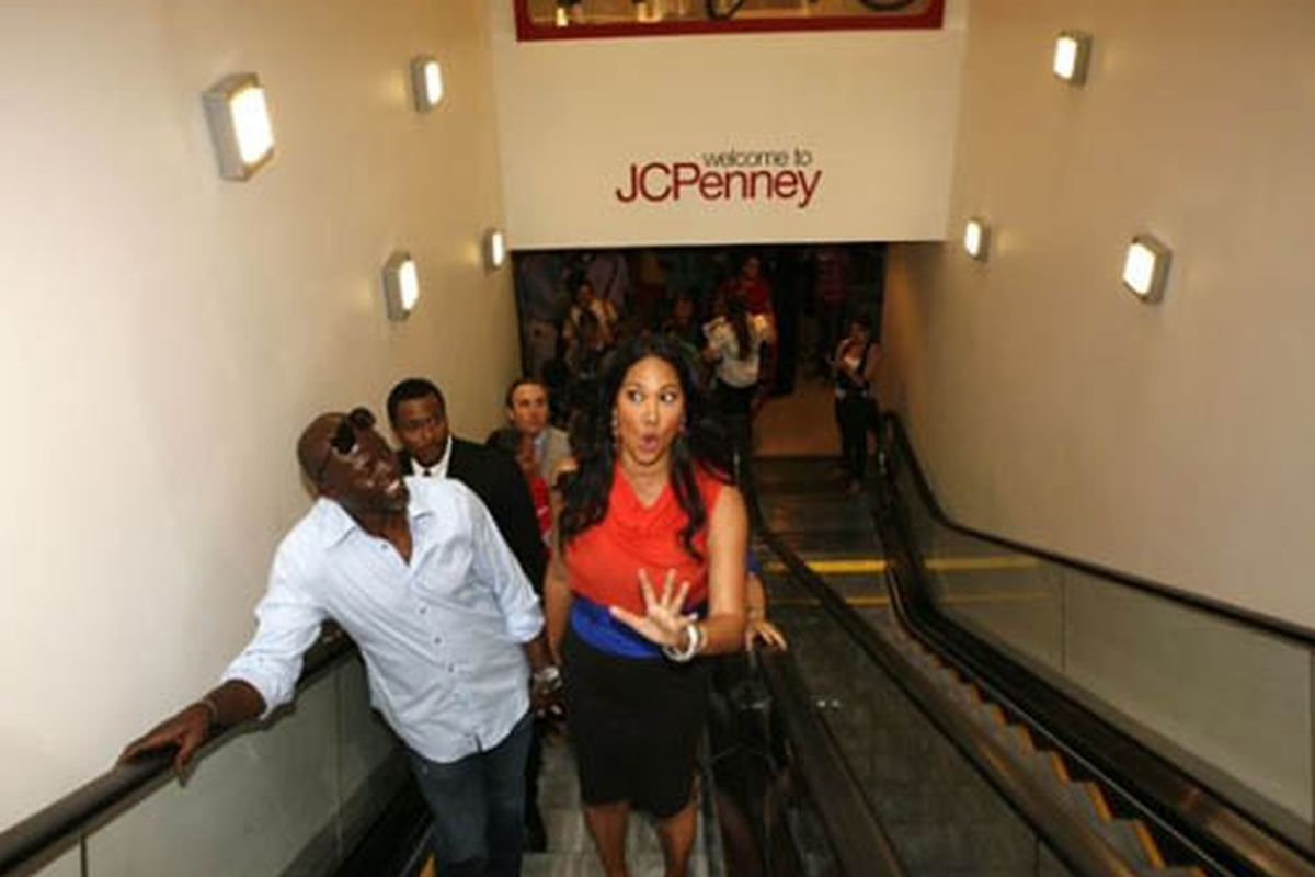 """The best thing to come out of the Cintra Wilson/JC Penney fiasco: This photo of Kimora Lee Simmons.  Via <a href=""""http://gothamist.com/2009/08/13/ny_times_reporter_gives_jc_penney_t.php"""">Gothamist</a>."""