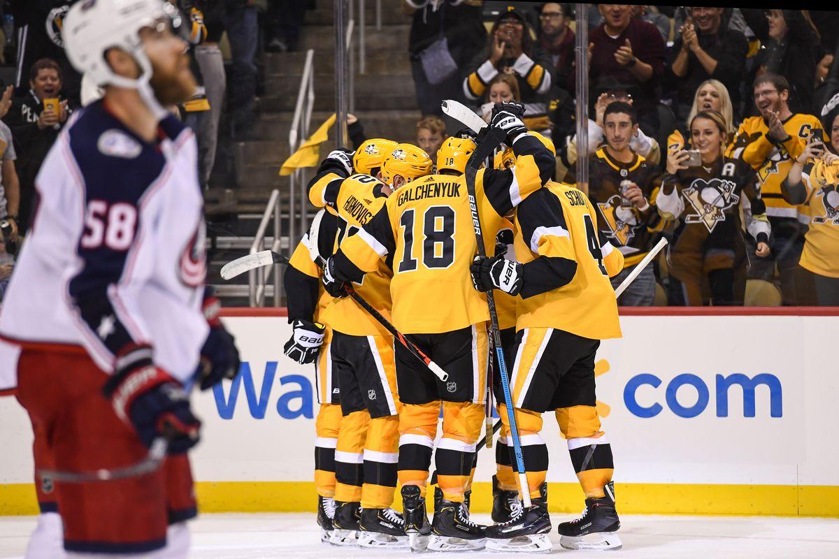 NHL: OCT 05 Blue Jackets at Penguins