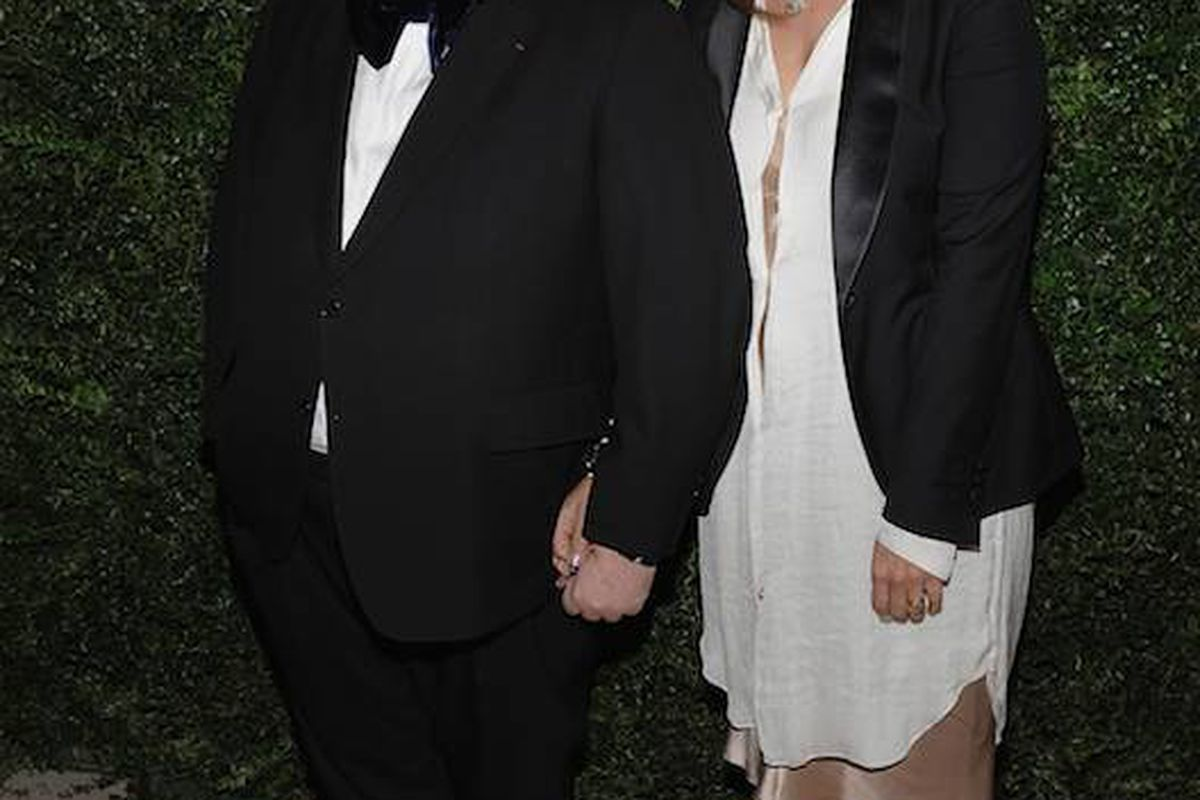 Departing fashion news and features director Sally Singer with Alber Elbaz