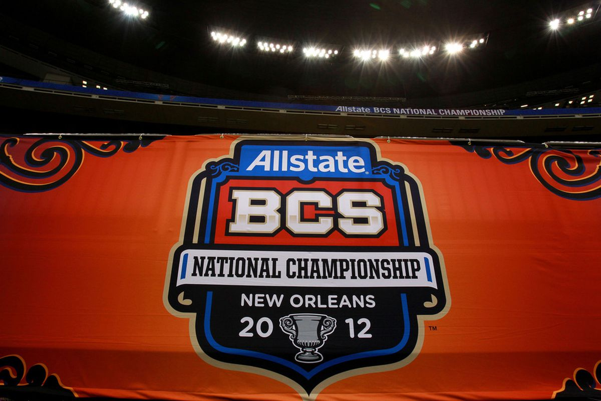 The commissioners of the conferences that play college football seem to have reached a consensus. They plan to recommend a four team playoff to the college presidents.  (Photo by Ronald Martinez/Getty Images)