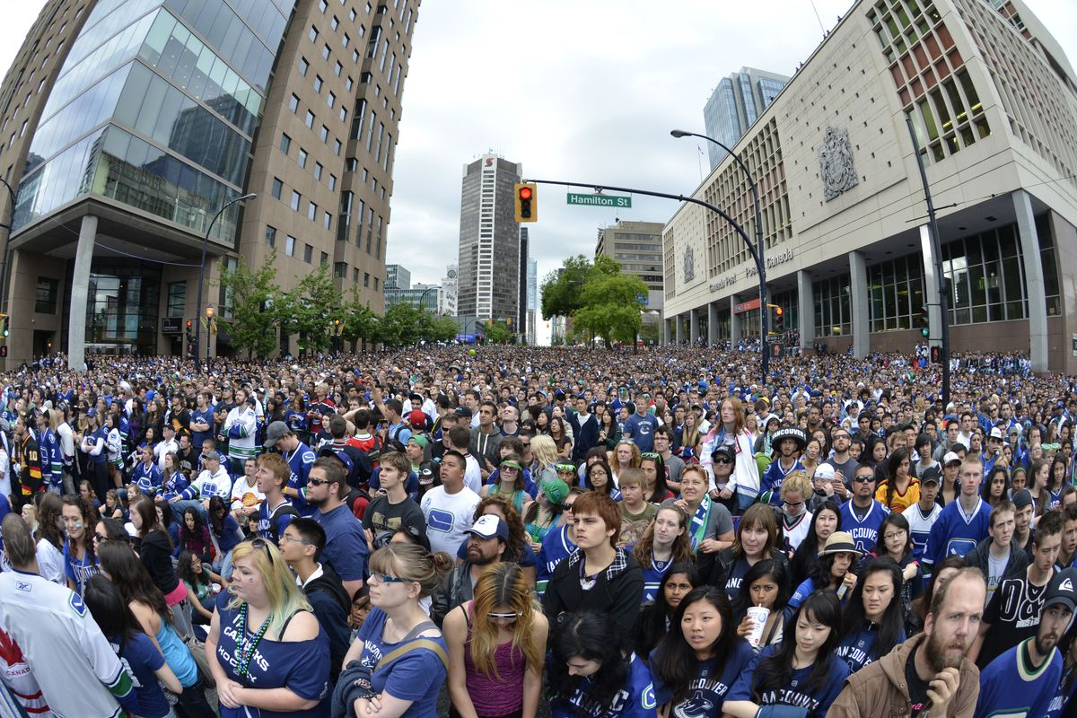Fans Gather to Watch Game Six of the NHL Stanley Cup Final