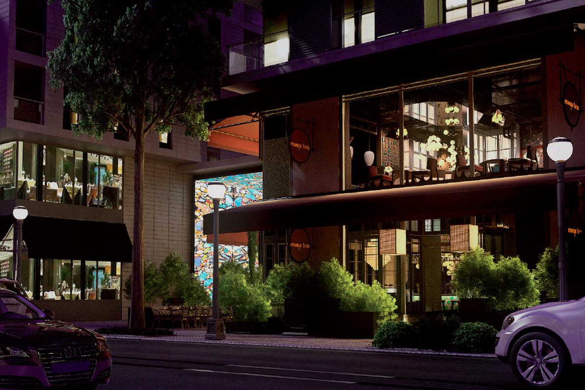 A rendering of Mango Tree at CityCenterDC