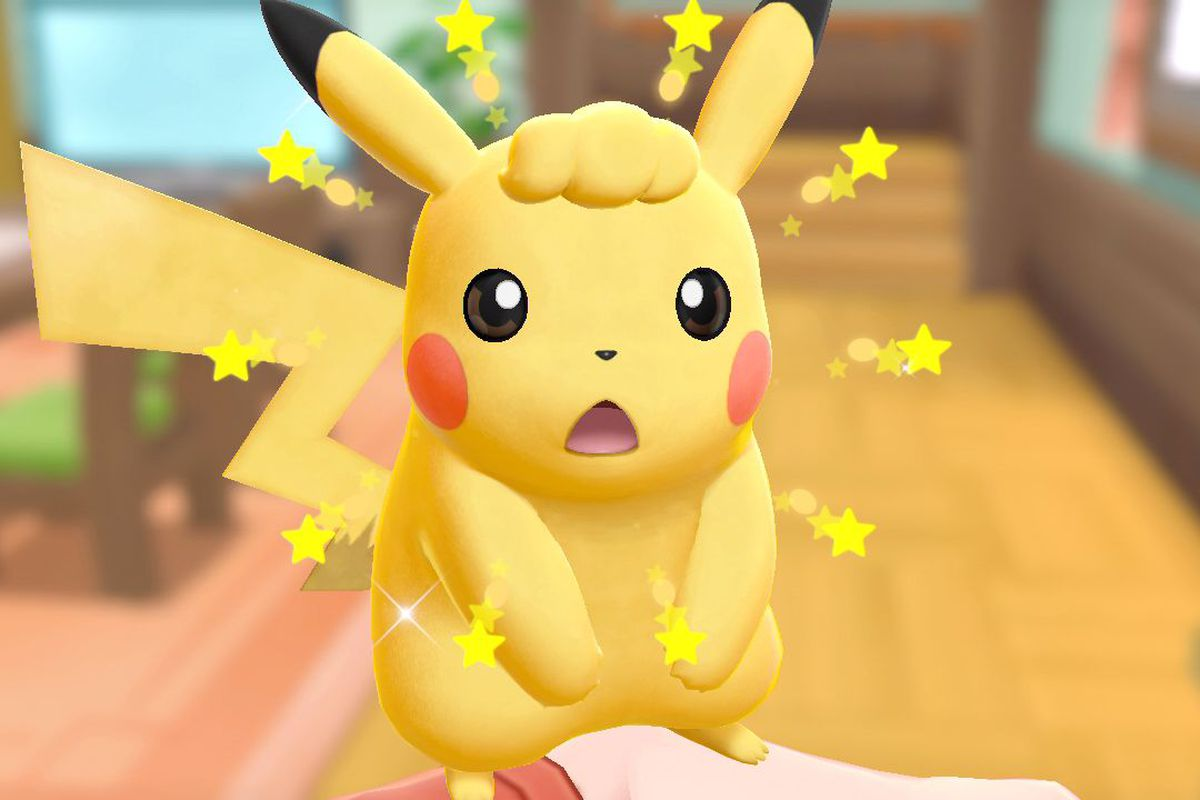 Pikachu's new hairstyle in in Pokémon: Let's Go, Pikachu! and Let's Go, Eevee!