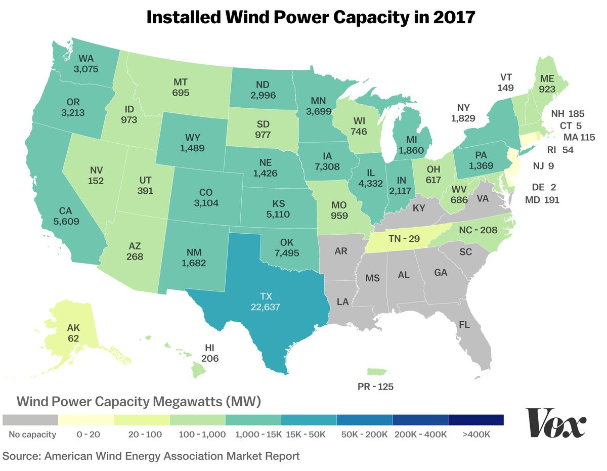 Wind energy\'s lopsided growth in the US, explained with 4 maps - Vox