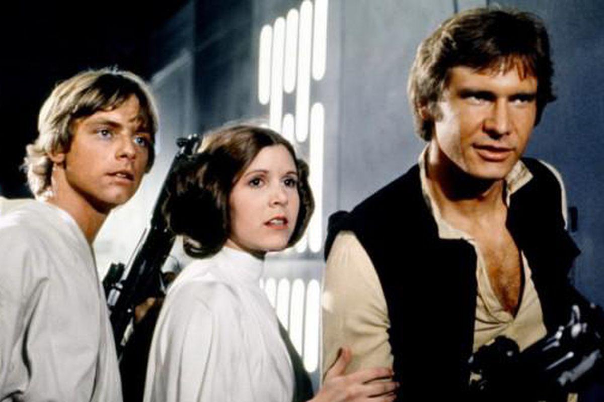 Luke Skywalker, Princess Leia, and Han Solo