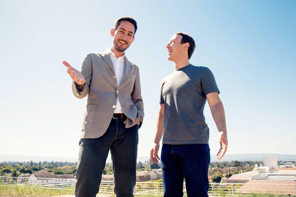 Instagram CEO Kevin Systrom and Facebook CEO Mark Zuckerberg.