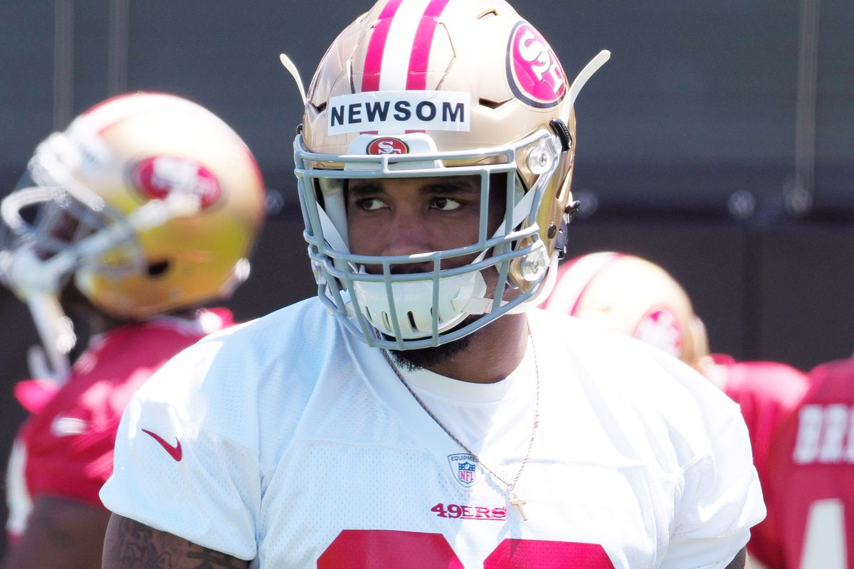 49ers LB Donavin Newsom 'doing fine' after leaving practice in ambulance